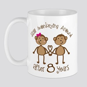 8th Anniversary Love Monkeys Mug