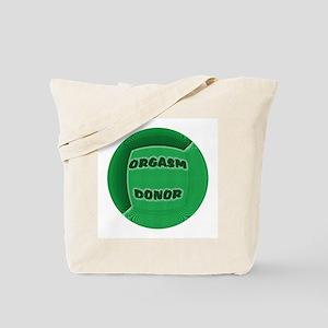 ORGASM DONOR GREEN-TILE CIRCL Tote Bag