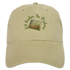 I'd Rather Be Fishing Baseball Baseball Cap