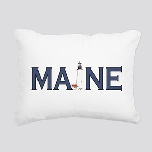 Maine Lighthouse Rectangular Canvas Pillow