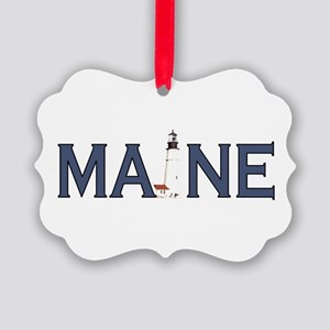 Maine Lighthouse Picture Ornament