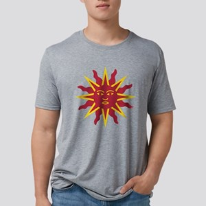 Medieval Sun Face on a Butt Mens Tri-blend T-Shirt