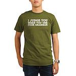 Poor Grammar Organic Men's T-Shirt (dark)