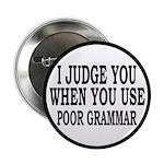 """Poor Grammar 2.25"""" Button (10 pack)"""