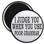 "Poor Grammar 2.25"" Magnet (10 pack)"