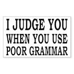 Poor Grammar Sticker (Rectangle)