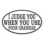 Poor Grammar Sticker (Oval)