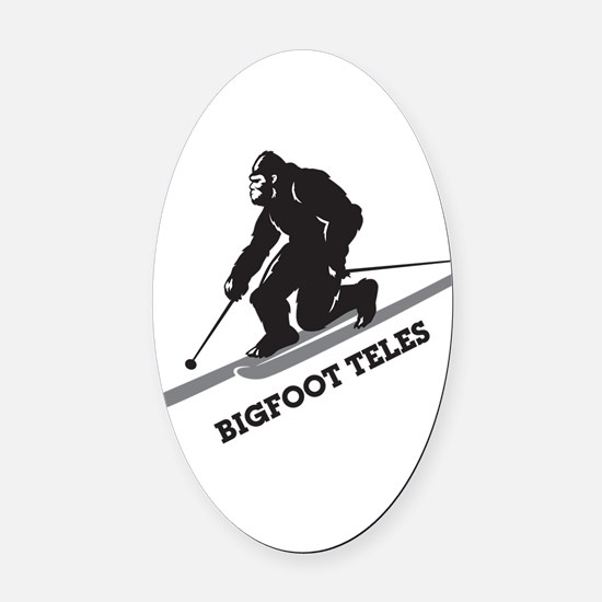 Bigfoot Teles Oval Car Magnet