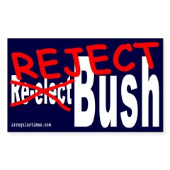 Reject Bush Rectangle Decal