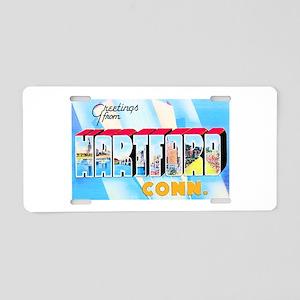 Hartford Connecticut Greetings Aluminum License Pl