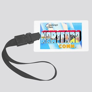 Hartford Connecticut Greetings Large Luggage Tag
