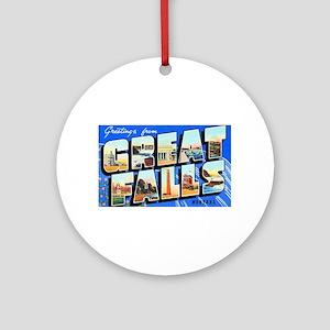 Great Falls Montana Greetings Ornament (Round)