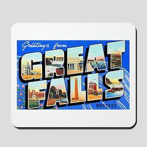 Great Falls Montana Greetings Mousepad