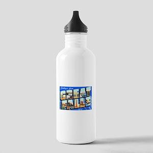 Great Falls Montana Greetings Stainless Water Bott