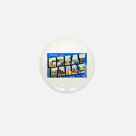 Great Falls Montana Greetings Mini Button