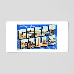 Great Falls Montana Greetings Aluminum License Pla