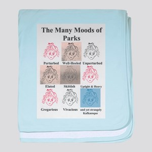 The Many Moods of Parks baby blanket