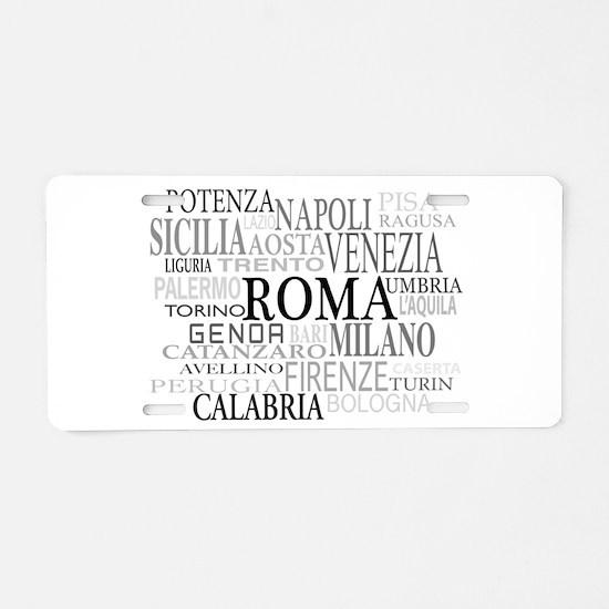 Italian Cities Aluminum License Plate