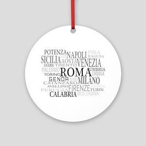 Italian Cities Ornament (Round)