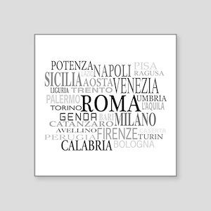 "Italian Cities Square Sticker 3"" x 3"""