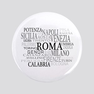 """Italian Cities 3.5"""" Button"""