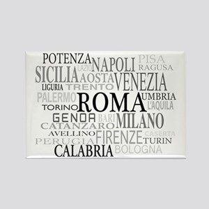 Italian Cities Rectangle Magnet