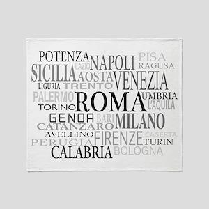 Italian Cities Throw Blanket