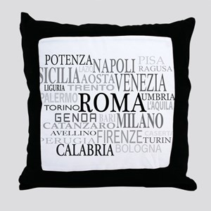 Italian Cities Throw Pillow
