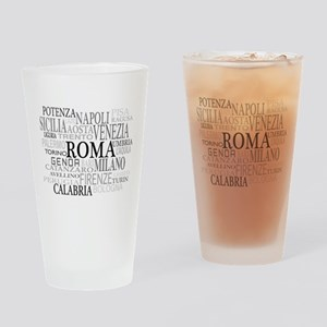 Italian Cities Drinking Glass