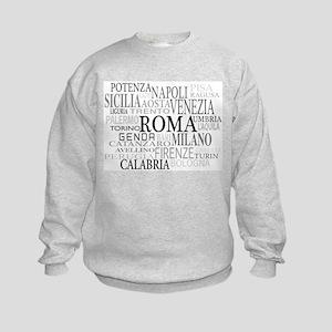 Italian Cities Kids Sweatshirt