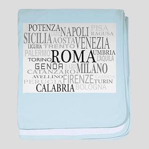 Italian Cities baby blanket