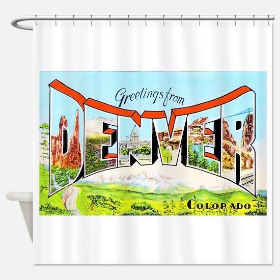 Denver Colorado Greetings Shower Curtain