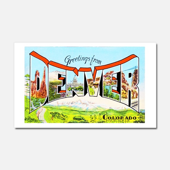 Denver Colorado Greetings Car Magnet 20 x 12