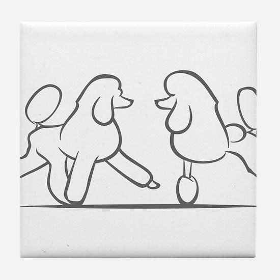 poodles of distinction Tile Coaster