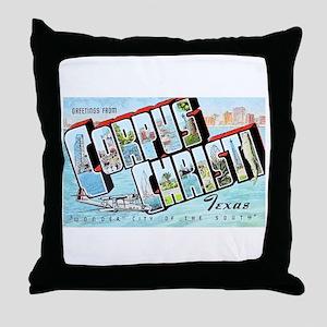 Corpus Christi Texas Greetings Throw Pillow