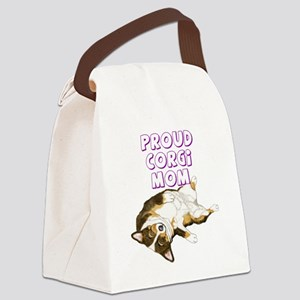 Proud Tri Corgi Mom Canvas Lunch Bag