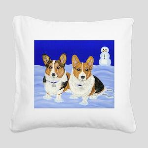 Double Trouble Square Canvas Pillow