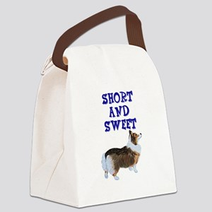 Short and Sweet tri Canvas Lunch Bag