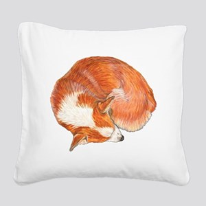 Sleeping Square Canvas Pillow