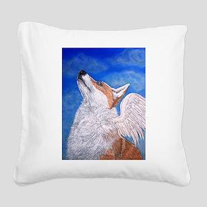 Angel Corgi Square Canvas Pillow