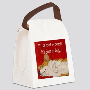 If it's not a corgi.. Canvas Lunch Bag