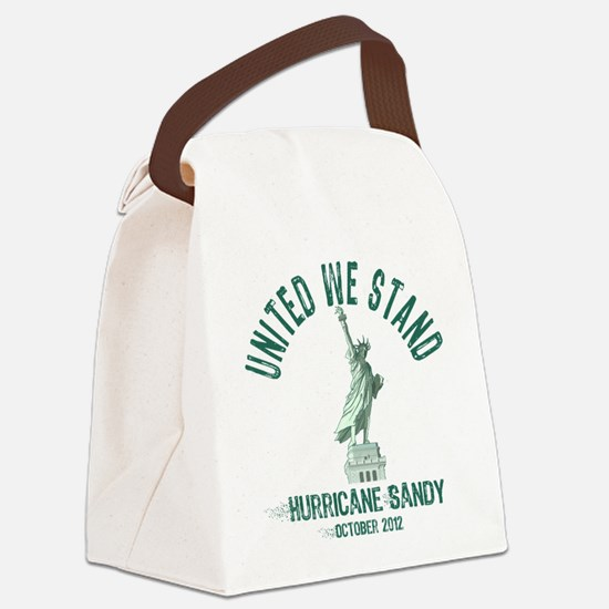 Hurricane Sandy Statue Canvas Lunch Bag