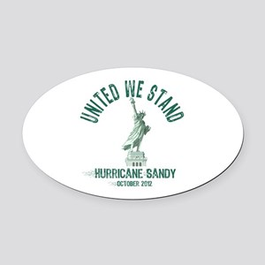 Hurricane Sandy Statue Oval Car Magnet