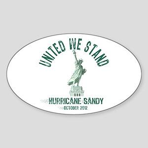 Hurricane Sandy Statue Sticker (Oval)