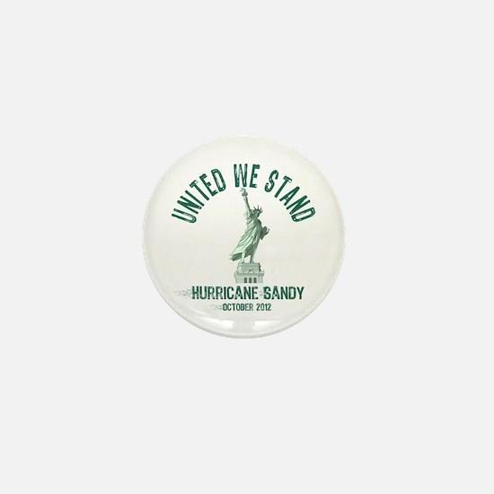 Hurricane Sandy Statue Mini Button