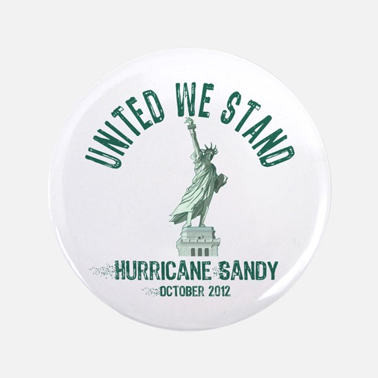 "Hurricane Sandy Statue 3.5"" Button"