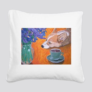 Coffee break Square Canvas Pillow