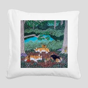 Fairy Friends Square Canvas Pillow