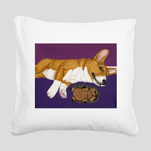 Chilling Square Canvas Pillow