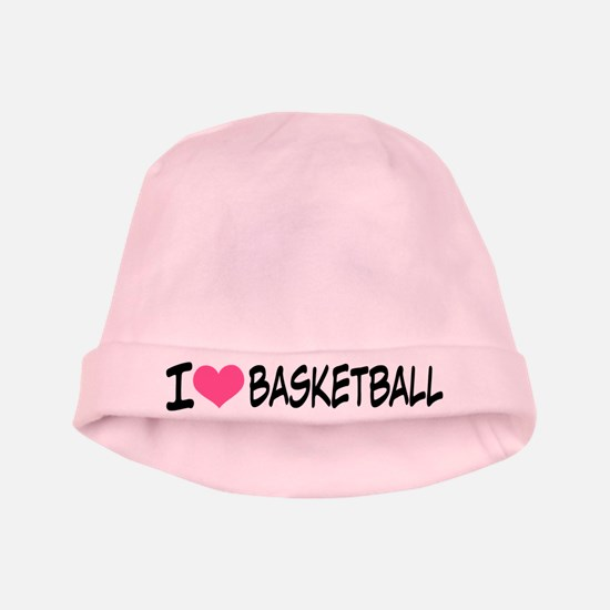 I Heart Basketball baby hat